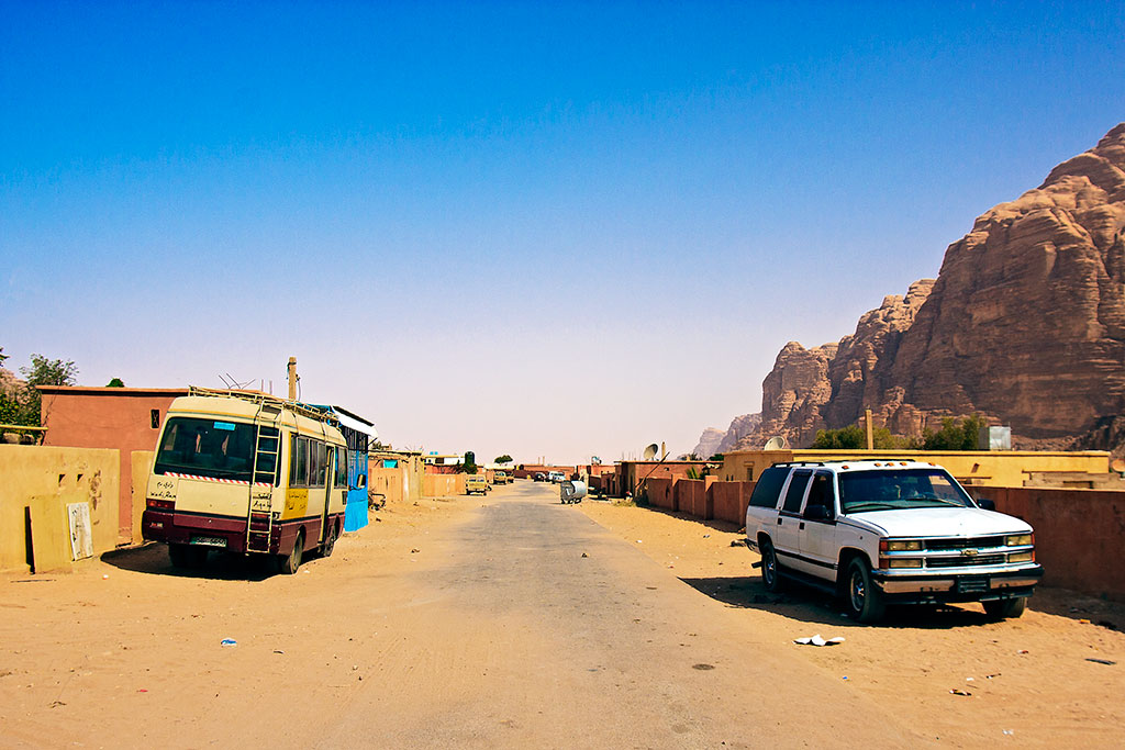 rua na aldeia de wadi rum