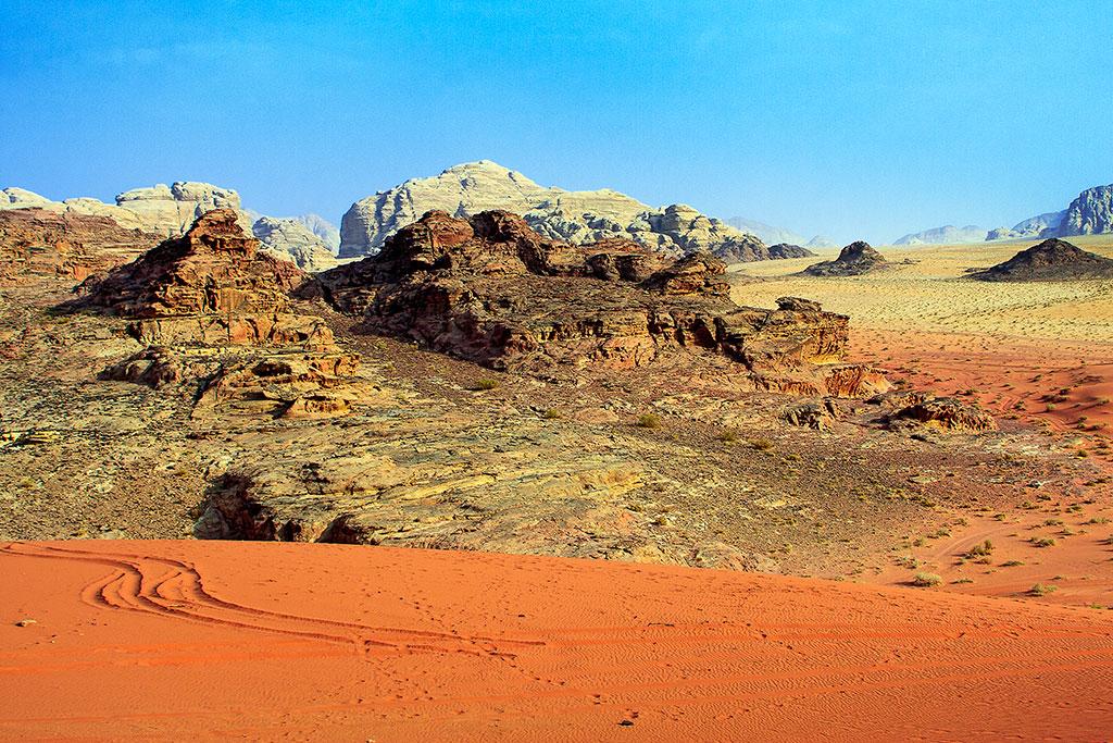 mistura de desertos em wadi rum