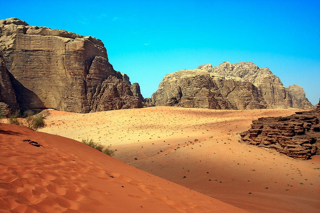 vista da grande duna vermelha