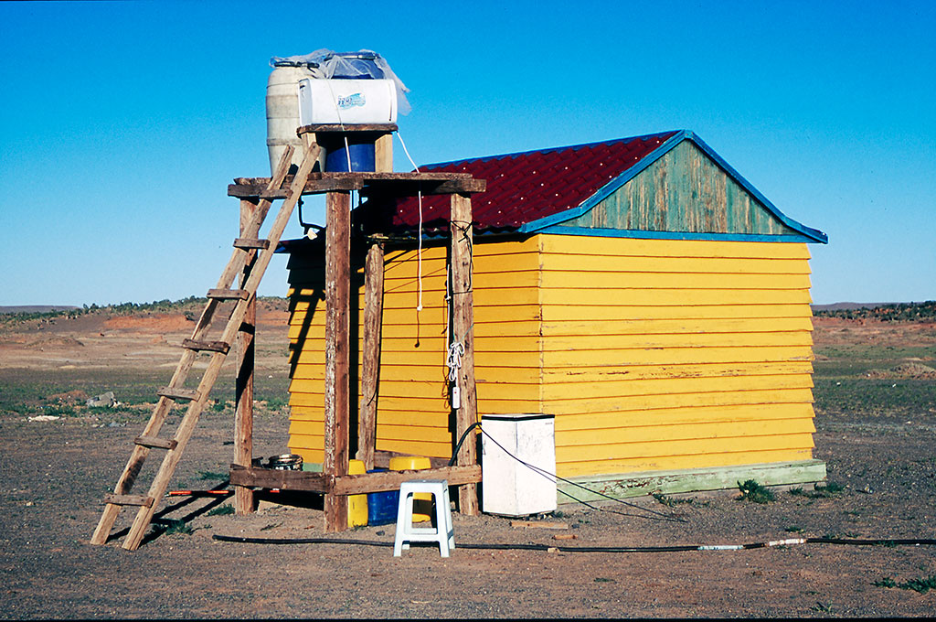 casa de banho no deserto de Gobi