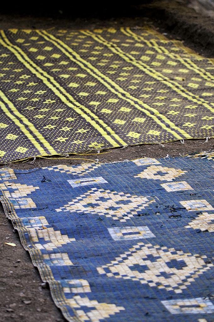 Tapeçarias em souk berbere