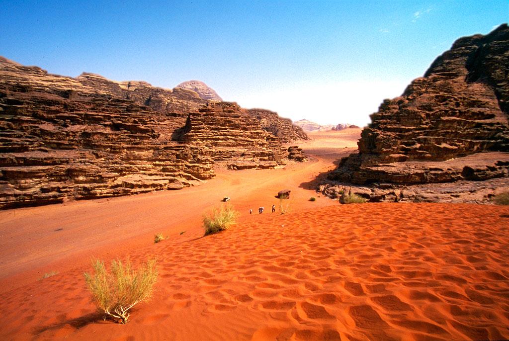 grande deserto de wadi rum