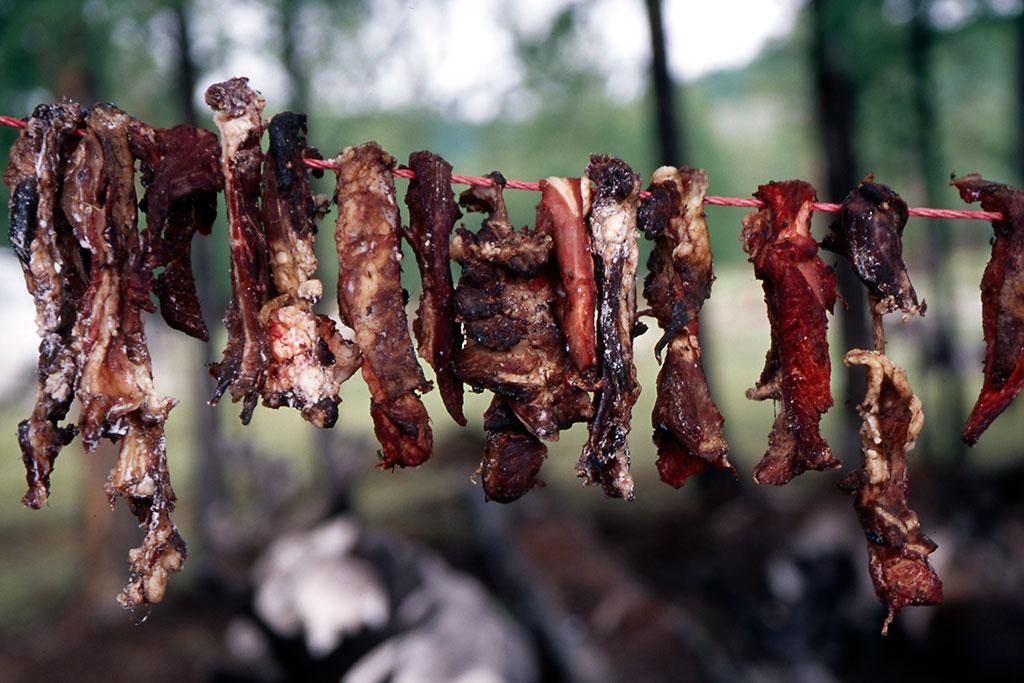 carne a secar na corda