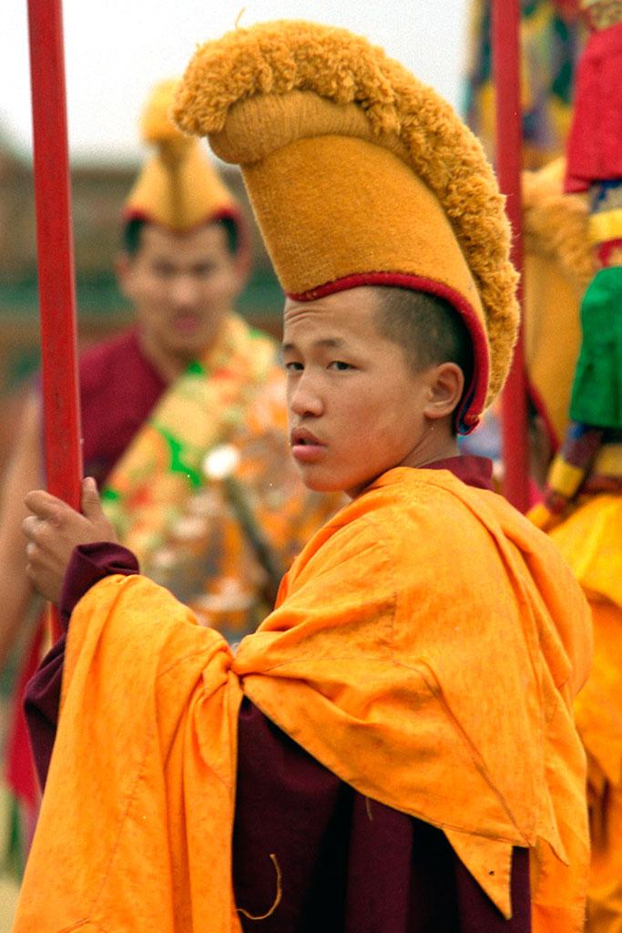 monge budista em Amarbayasgalant