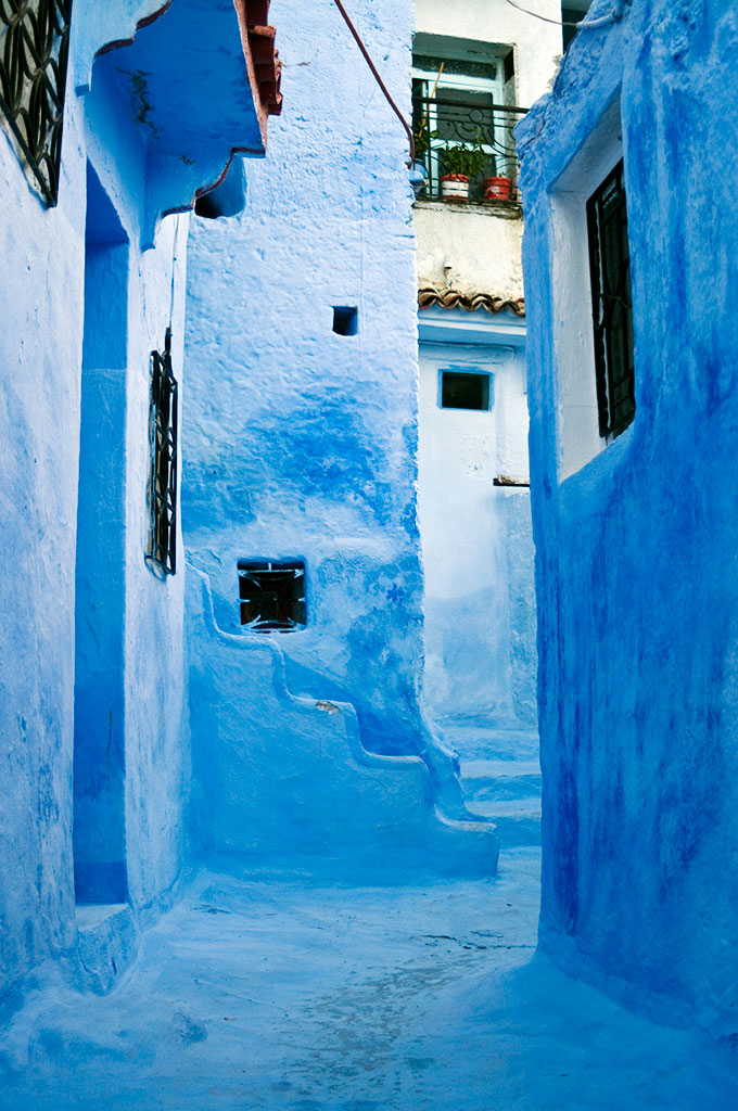 Azul das ruas de Chefchaouan