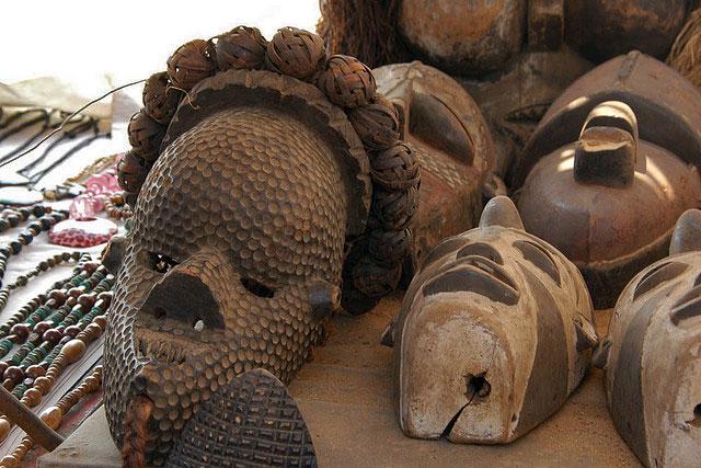 máscaras de madeira