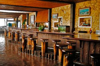 Balcão do bar no Muchaxo