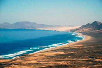 linha de costa de Cofete