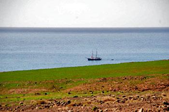 veleiro na costa de cofete