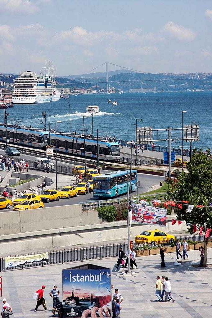 cidade de istambul junto ao bósforo