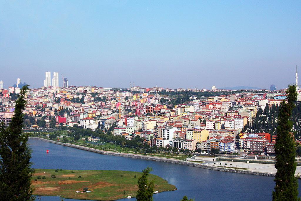 vista panorâmica de istambul desde o café pierre loti