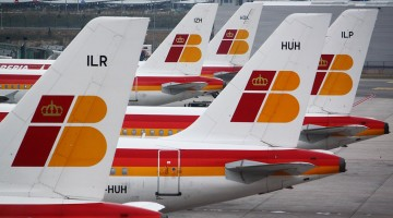 aviões Iberia no aeroporto Barajas