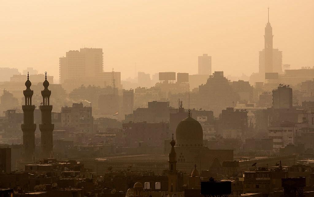 smog na cidade do Cairo