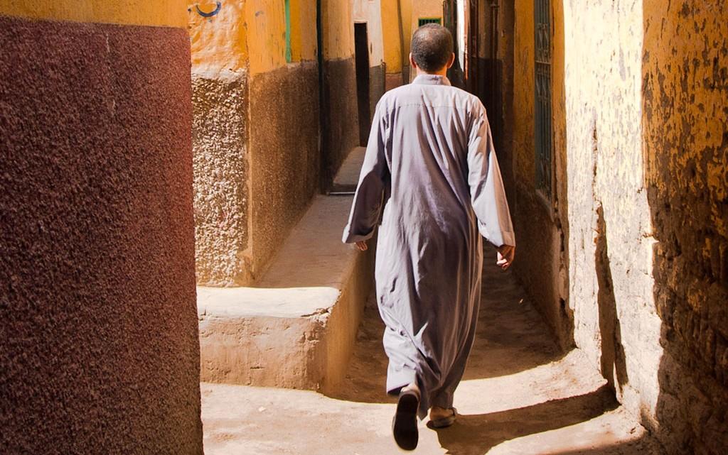 rua em aldeia nubia