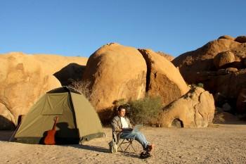 Gonçalo Cadilhe em trabalho na Namibia