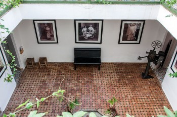 pátio casa da fotografia de marraquexe