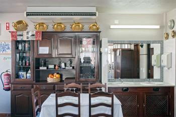 sala de refeição do restaurante A Palmeira