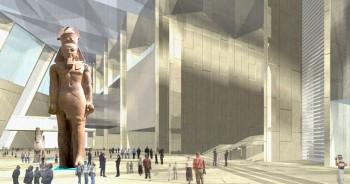 interior novo museu egipcio