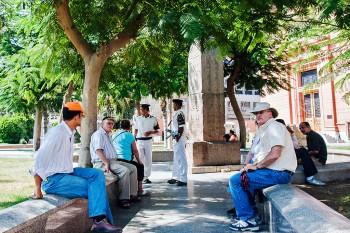 jardins do museu egípcio