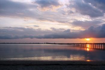 nascer do sol na ilha de Moçambique