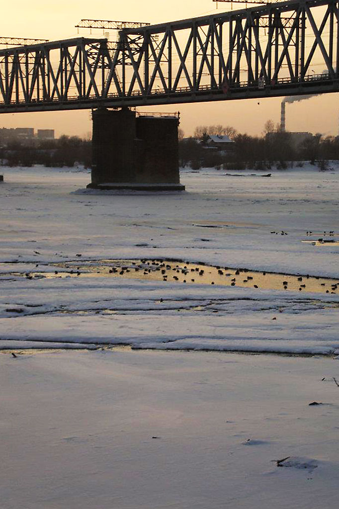 Rio Ob congelado