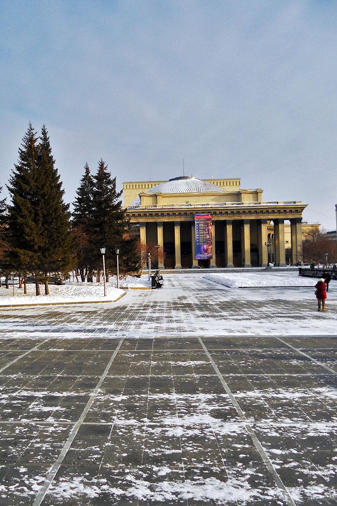 Praça Lenine em Novosibirsk