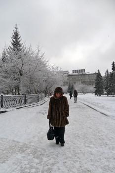Mulher em Novosibirsk