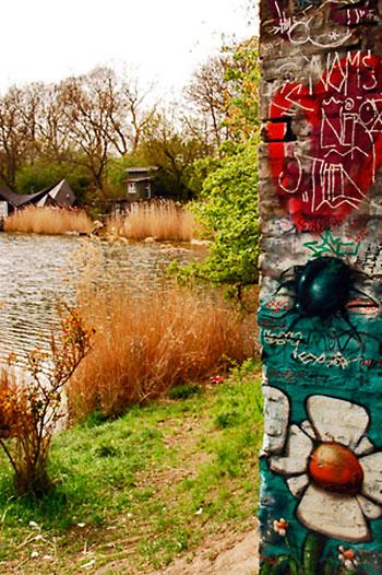 pinturas em christiania, junto ao lago
