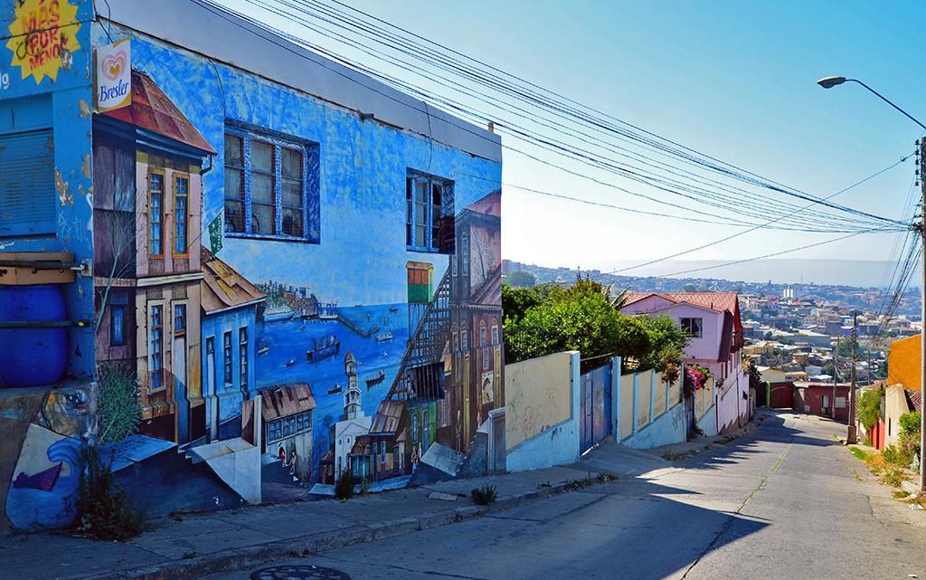 Cerro em Valparaíso