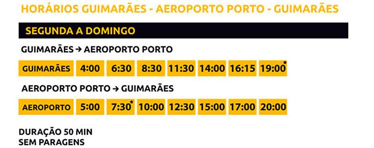 Get Bus horários Guimarães Aeroporto
