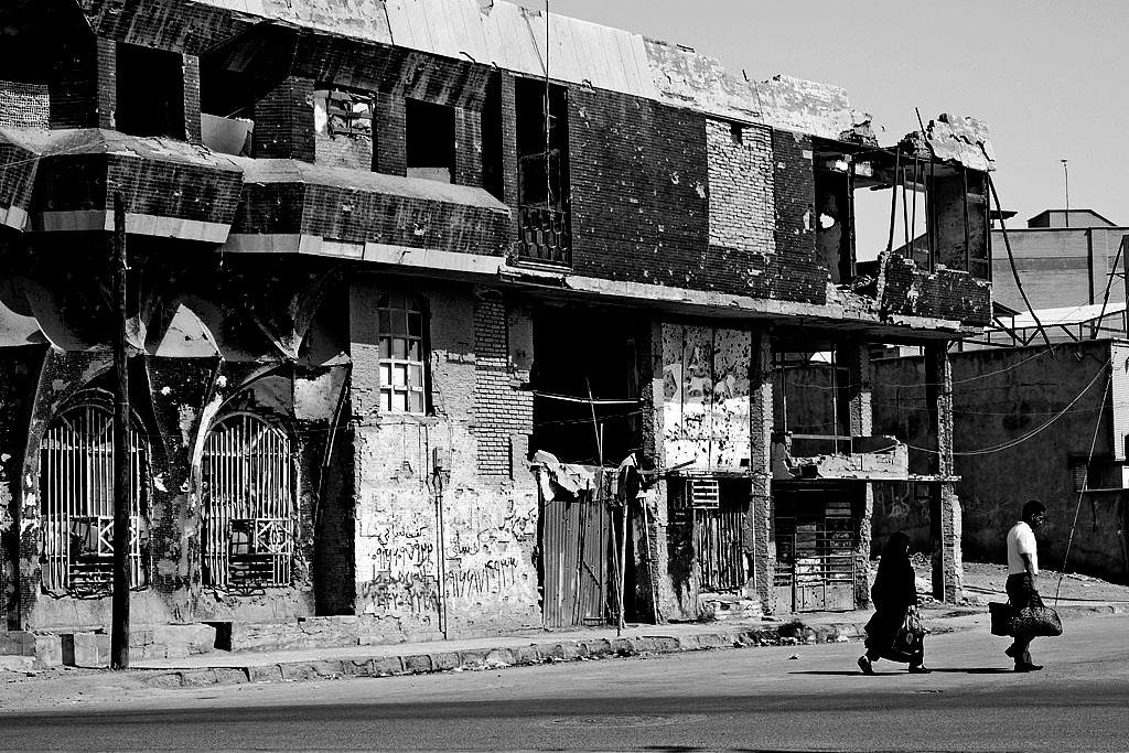 edifício destruído pela guerra