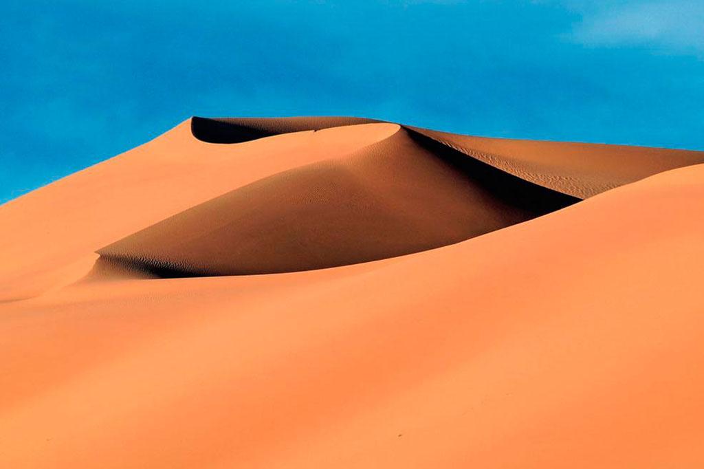 formação dunar no deserto