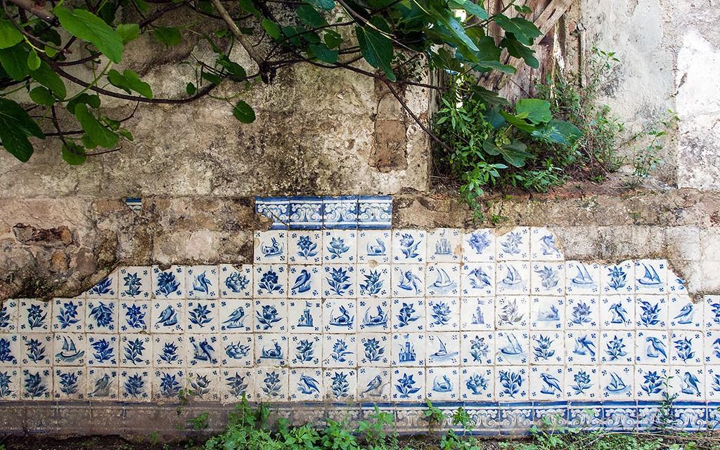 Painel de azulejos no convento N. Sra Desterro