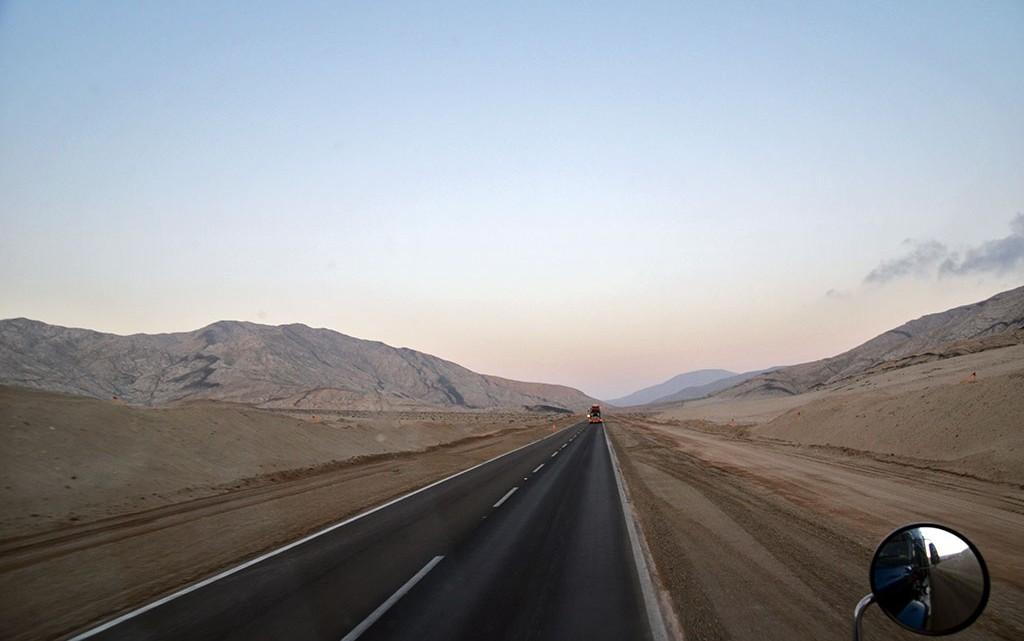 Estrada no deserto do Atacama