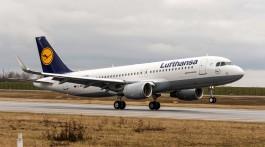 aterragem de avião Lufthansa Airbus A320