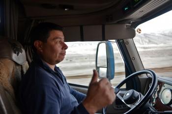 Camionista no Atacama