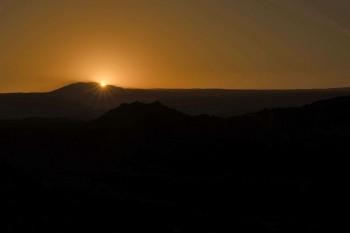 Nascer da lua no Atacama
