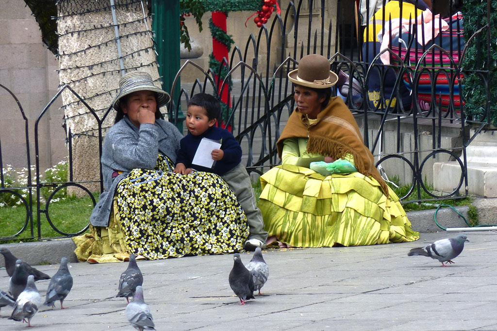 Cholitas em La Paz