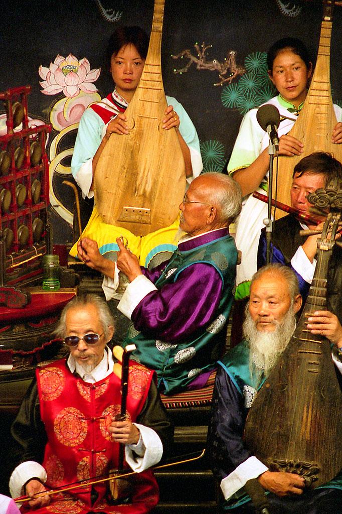 secção de cordas numa orquestra lijiang