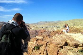 Filipe Morato Gomes a fotografar em Petra