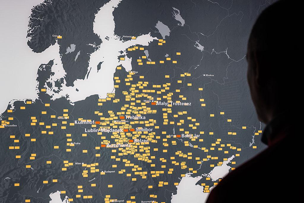 localização campos de concentração nazis
