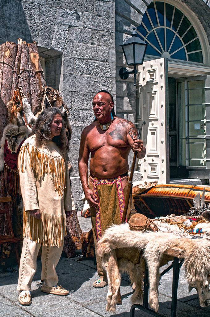 Índios nas ruas de Montreal