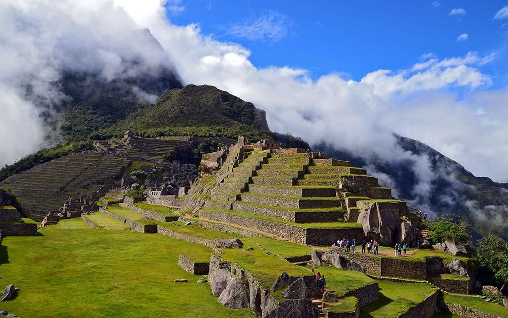 Construções da cidade Inca de Machu Picchu