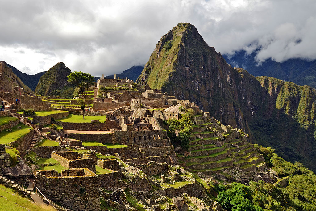 ruinas em Machu Picchu