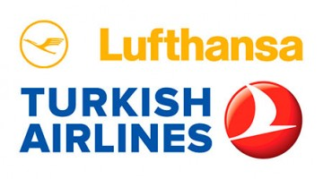 logótipo Lufthansa e Turkish Airlines