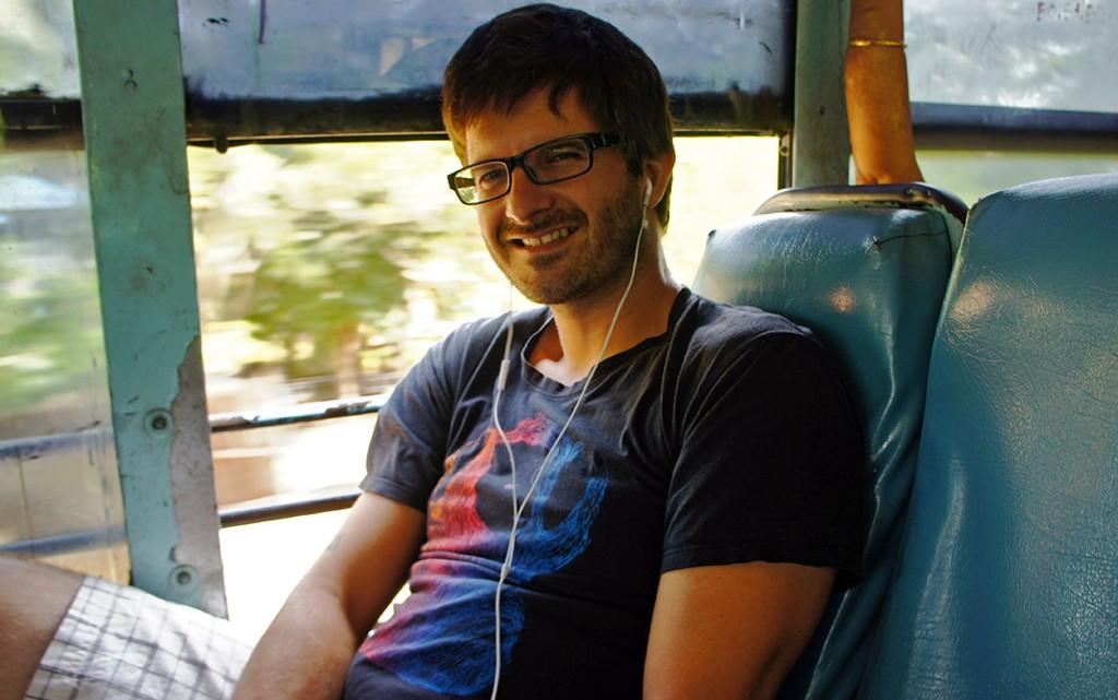 Jorge Vassalo no autocarro