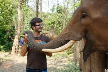 Jorge Vassalo com elefante ramsen