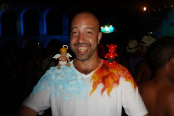 homem no carnaval da Lapa
