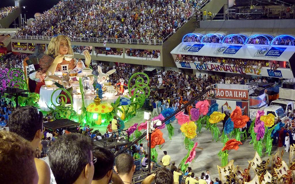 União da Ilha no Sambódromo do Rio de Janeiro
