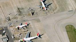 Aviões TAP no aeroporto de lisboa